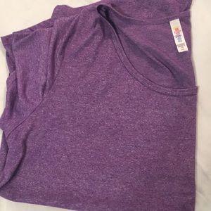 LuLaRoe 2xl purple classic tee